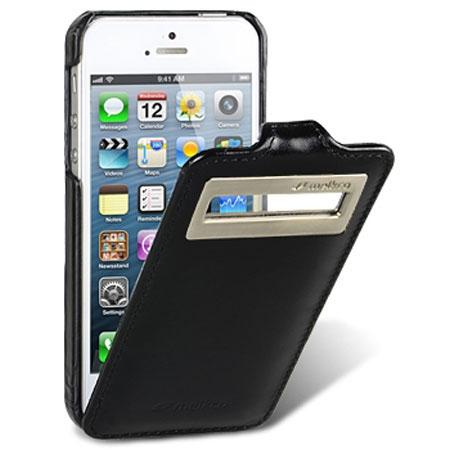 Кожаный чехол с окошком Melkco для Apple iPhone 5/5S / iPhone SE - Jacka ID Type Vintage - черный