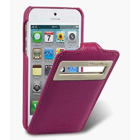 Кожаный чехол с окошком Melkco для Apple iPhone 5/5S / iPhone SE - Jacka ID Type - сиреневый