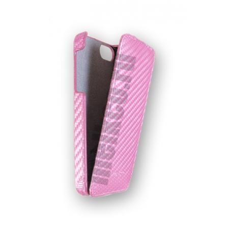 Чехол Melkco для Apple iPhone 5/5S / iPhone SE - Jacka Type (Carbon Fiber Pattern) - розовый