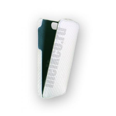 Кожаный чехол Melkco для Apple iPhone 5/5S / iPhone SE - Jacka Type - змеиная кожа - белый
