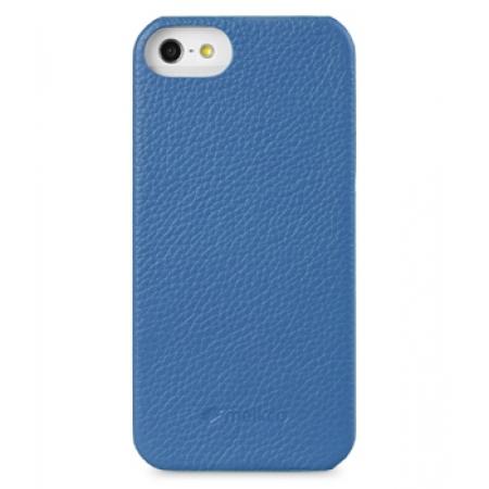 Кожаный чехол - задняя крышка Melkco для Apple iPhone 5/5S / iPhone SE - Snap Cover - синий