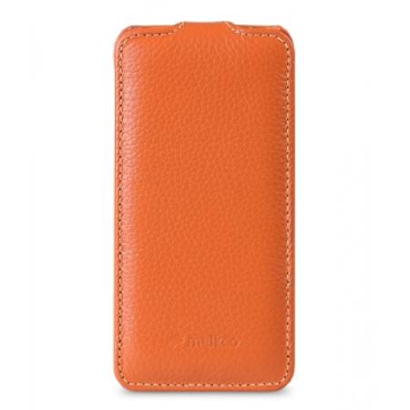 Кожаный чехол Melkco для Sony Xperia Z3 Compact / Z3 Mini / D5803 - Jacka Type - оранжевый