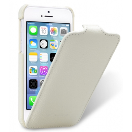 Кожаный чехол Melkco для Apple iPhone 5C - Jacka Type - белый