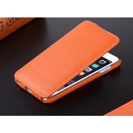 """Кожаный чехол Melkco для Apple iPhone 6/6S (4.7"""") - Jacka Type - оранжевый"""