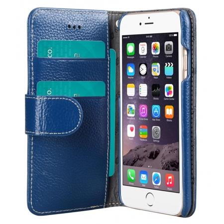 "Кожаный чехол книжка Melkco для Apple iPhone 6/6S (4.7"") - Wallet Book Type - темно-синий"