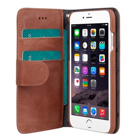"Кожаный чехол Melkco для Apple iPhone 6/6S (4.7"") - Wallet Book Type Classic Vintage Brown - коричневый"