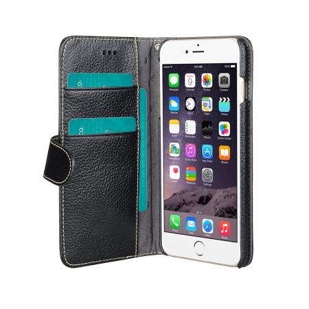 "Кожаный чехол Melkco для Apple iPhone 6/6S Plus (5.5"") - Wallet Book Type - чёрный"