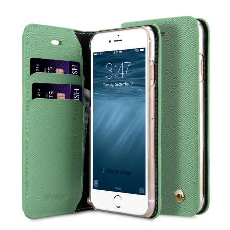 "Чехол книжка Melkco для iPhone 7/8 (4.7"") - Fashion Cocktail Series - светло-зеленый"