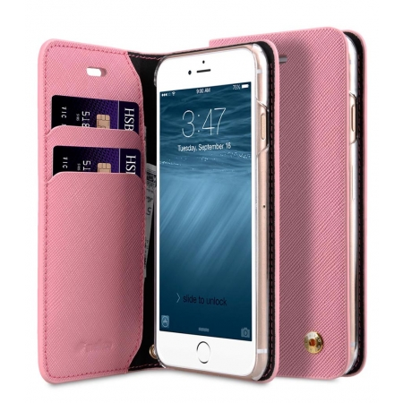 "Чехол книжка Melkco для iPhone 7/8 (4.7"") - Fashion Cocktail Series - розовый"