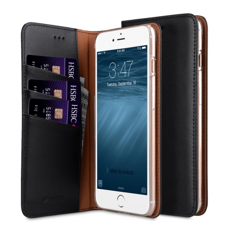 "Кожаный чехол книжка Melkco для iPhone 7/8 (4.7"") - Herman Series Book Style Case - черный"
