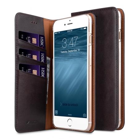 """Кожаный чехол книжка Melkco для iPhone 7/8 (4.7"""") - Herman Series Book Style Case - кофейный"""