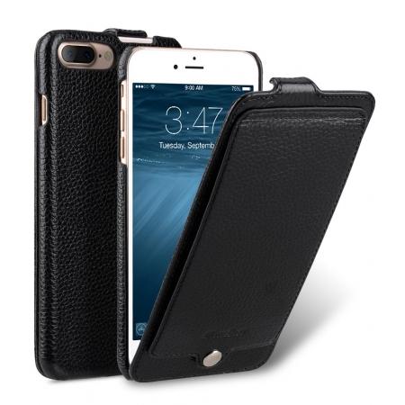 Кожаный чехол флип Melkco для iPhone 8/7 - Jacka Pocket Type Case - черный