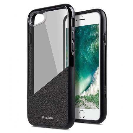 Двухслойный противоударный чехол Melkco Kubalt Edelman Case для Apple iPhone 8/7 - чёрный
