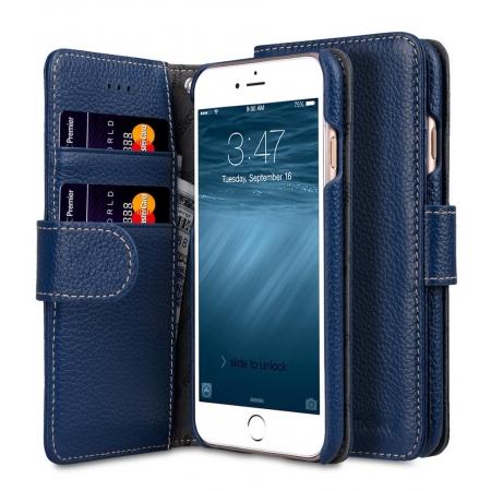 """Кожаный чехол книжка Melkco для iPhone 7/8 (4.7"""") - Wallet Book Type - темно-синий"""