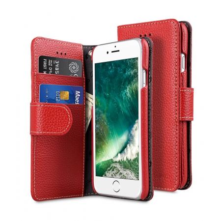 """Кожаный чехол книжка Melkco для iPhone 7/8 (4.7"""") - Wallet Book Type - красный"""
