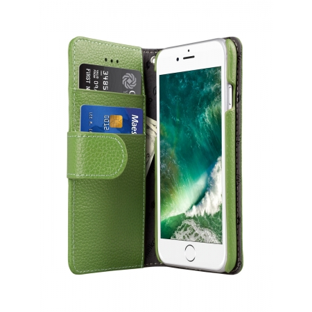 Кожаный чехол книжка Melkco для Apple iPhone 7/8 - Wallet Book Type, зеленый