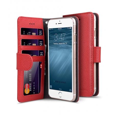 """Кожаный чехол книжка Melkco для iPhone 7/8 (4.7"""") - Wallet Book ID Slot Type - красный"""