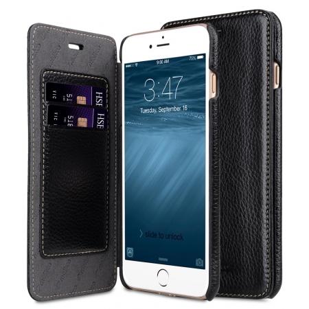 Кожаный чехол Melkco для Apple iPhone 8 Plus/7 Plus - Face Cover Book Type Case - черный