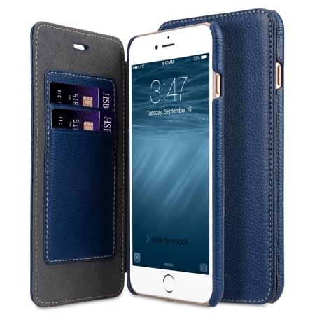 Кожаный чехол Melkco для Apple iPhone 8 Plus/7 Plus - Face Cover Book Type Case - тёмно-синий
