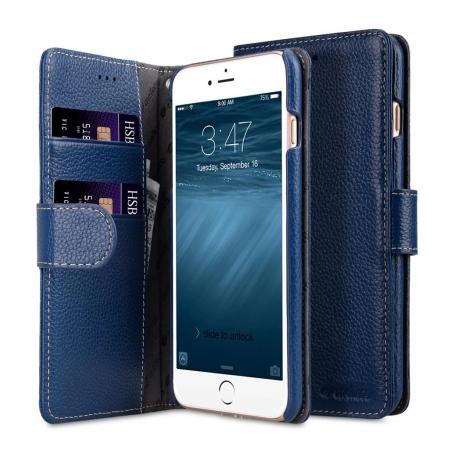 "Кожаный чехол книжка Melkco для iPhone 7/8 Plus (5.5"") - Wallet Book Type - темно-синий"