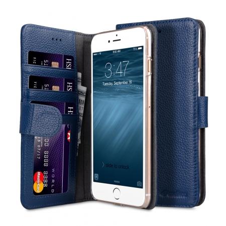"Кожаный чехол книжка Melkco для iPhone 7/8 Plus (5.5"") - Wallet Book ID Slot Type - темно-синий"