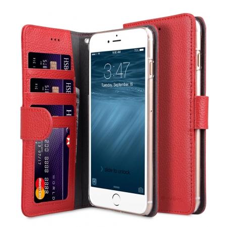 """Кожаный чехол книжка Melkco для iPhone 7/8 Plus (5.5"""") - Wallet Book ID Slot Type - красный"""