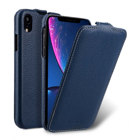 Кожаный чехол Melkco для Apple iPhone X/XS - Jacka Type - темно-синий