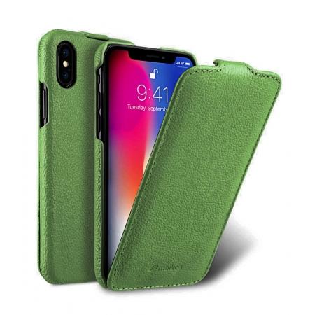 Кожаный чехол Melkco для Apple iPhone X/Xs - Jacka Type - зеленый