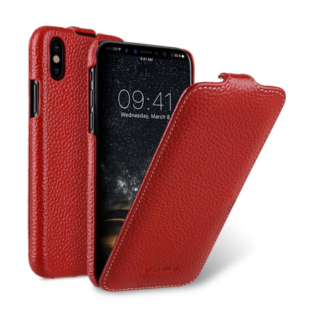 Кожаный чехол Melkco для Apple iPhone X/XS - Jacka Type - красный