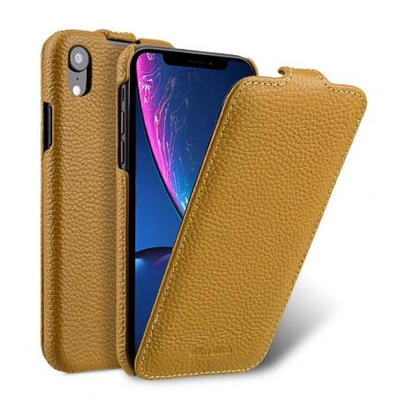 Кожаный чехол Melkco для Apple iPhone XR - Jacka Type - желтый