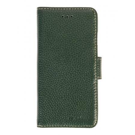 """Кожаный чехол книжка Melkco для iPhone 12/12 Pro (6.1"""") - Wallet Book Type - темно-зеленый"""