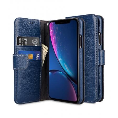 """Кожаный чехол книжка Melkco для iPhone 12/12 Pro (6.1"""") - Wallet Book Type - темно-синий"""