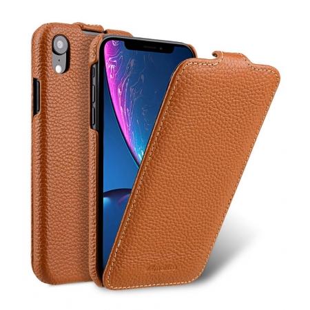 Кожаный чехол Melkco для Apple iPhone XR - Jacka Type - оранжевый