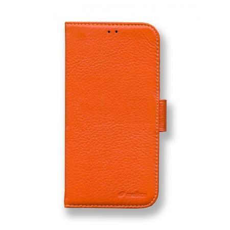 Кожаный чехол книжка Melkco для Apple iPhone Xr - Wallet Book Type - оранжевый