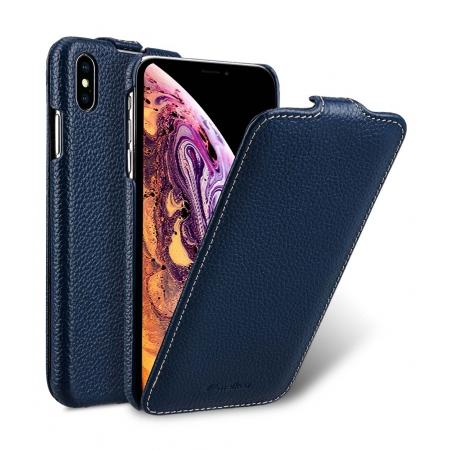 "Кожаный чехол Melkco для Apple iPhone Xs Max 6.5"" - Jacka Type - темно-синий"