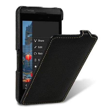 Кожаный чехол Melkco для Blackberry Z10 - Jacka Type - чёрный