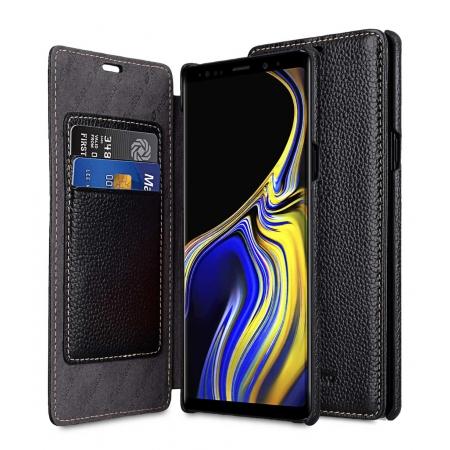 Кожаный чехол Melkco для Samsung Galaxy Note 9 - Face Cover Book Type - черный