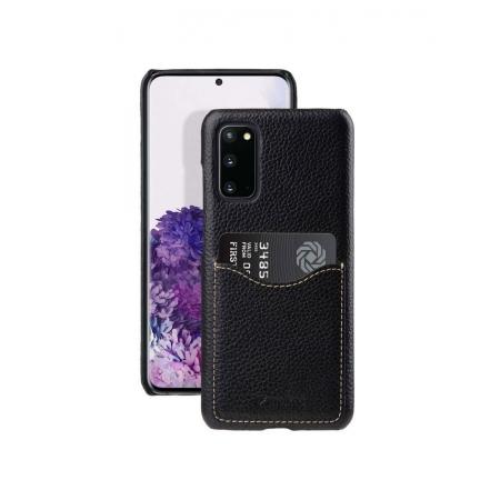 Кожаный чехол накладка Melkco для Samsung Galaxy S20 - Card Slot Back Cover V2, черный