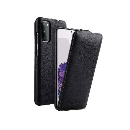 Кожаный чехол флип Melkco для Samsung Galaxy S20 - Jacka Type - черный