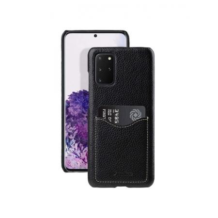 Кожаный чехол накладка Melkco для Samsung Galaxy S20+ - Card Slot Back Cover V2, черный