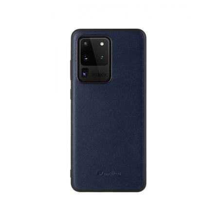 Кожаный чехол накладка Melkco Ingenuity Series для Samsung Galaxy S20 Ultra, темно-синий