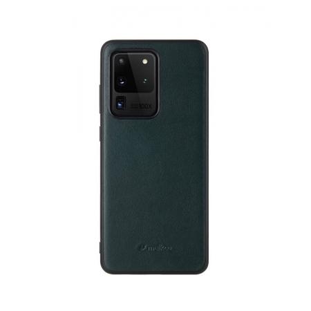 Кожаный чехол накладка Melkco Ingenuity Series для Samsung Galaxy S20 Ultra, темно-зеленый