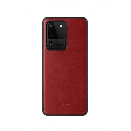Кожаный чехол накладка Melkco Ingenuity Series для Samsung Galaxy S20 Ultra, красный