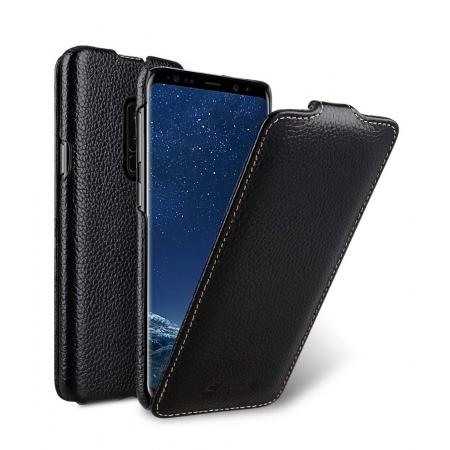 Кожаный чехол флип Melkco для Samsung Galaxy S9+ - Jacka Type - черный