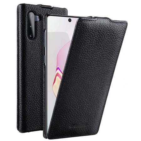 Кожаный чехол Melkco для Samsung Galaxy Note 10 - Jacka Type - черный