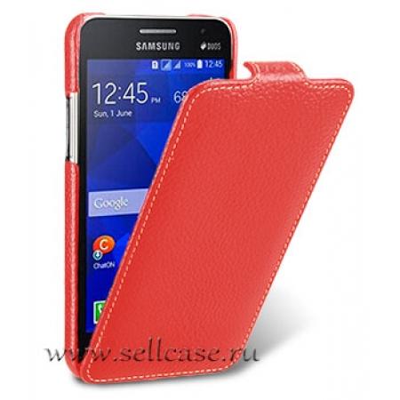 Кожаный чехол Melkco для Samsung Galaxy Core 2 Duos / G355H - Jacka Type - красный