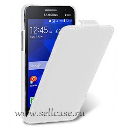 Кожаный чехол Melkco для Samsung Galaxy Core 2 Duos / G355H - Jacka Type - белый