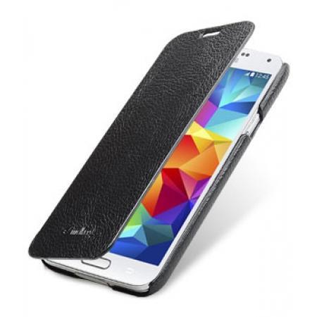 Кожаный чехол книжка Melkco для Samsung Galaxy S5 - FC Book Type - черный