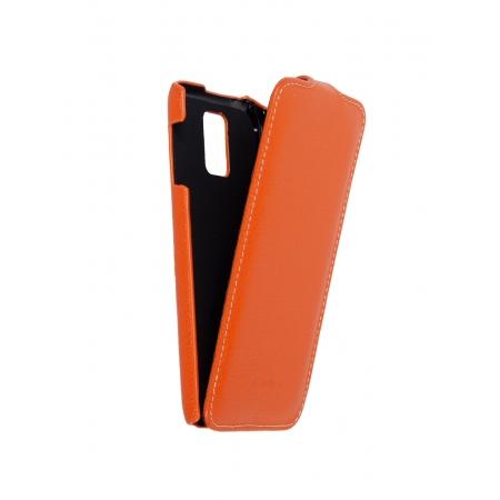 Кожаный чехол книжка Melkco для Samsung Galaxy S5 - Jacka Type - оранжевый
