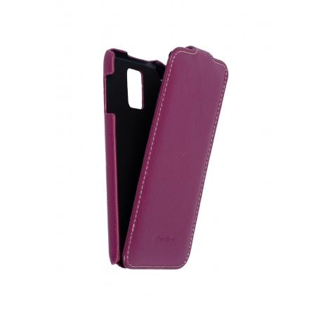 Кожаный чехол книжка Melkco для Samsung Galaxy S5 - Jacka Type - сиреневый